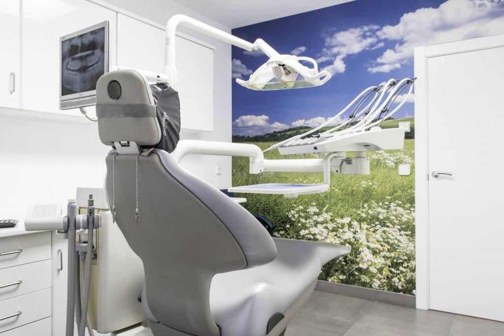 Vista de les instal•lacions de la clínica dental de Linyola.